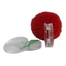 Adaptador de aplique acrilico - 2 cm c/ 10 unds