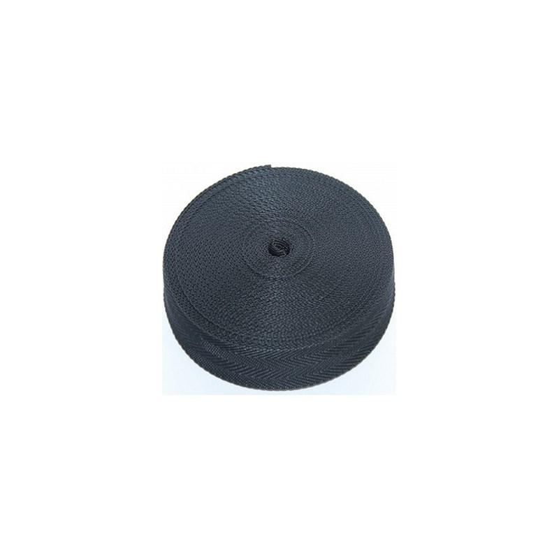 Alça poliproplileno 30 mm c/ 25 mts 02-preto