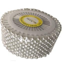 Alfinete em disco branco nybc tam. 3,5 c/ 480 unds