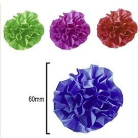 Aplic. 52 - flor cetim - 6 cm  c/ 100 unds