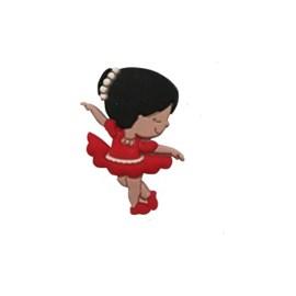 Aplic. bailarina vermelha c/ 10 unds