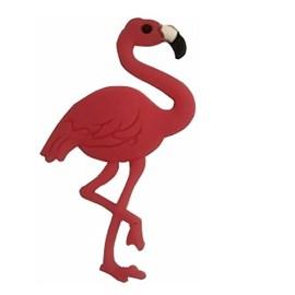 Aplic.  borracha flamingo pink c/ 10 unds