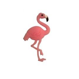 Aplic. de borracha flamingo rosa ap 42 c/ 10 unds