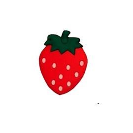 Aplic. de borracha morango ap 42 - aprox. 3 cm c/ 10 unds