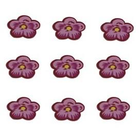 Aplic. dec. ap-45 flor- aprox. 1.5 cm c/ 100 unds