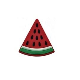 Aplic. dec de borracha melancia ap 42-aprox. 3 cm c/ 10 unds