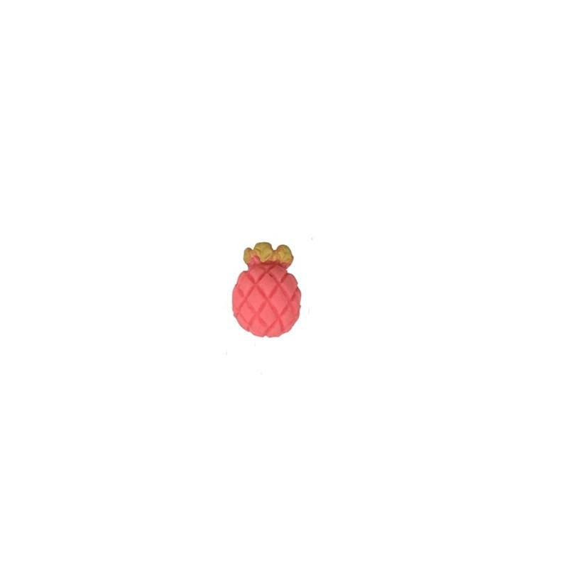 Aplic. plastico abacaxi rosa - aprox. 1.5 cm  c/ 10 unds