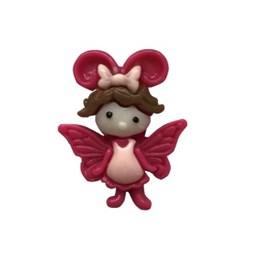 Aplic. plastico anjo pink - aprox. 2 cm   c/ 10 unds