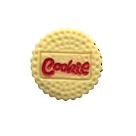 Aplic. plastico biscoito cookie - aprox. 2.5 cm  c/ 10 unds