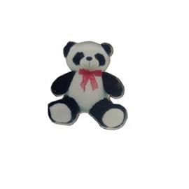 Aplique acrilico n. 130 - urso pelucia 3 x 3 cm c/ 5 unds