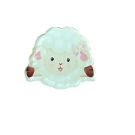 Aplique  acrilico ovelha - aprox. 2 cm c/ 5 unds