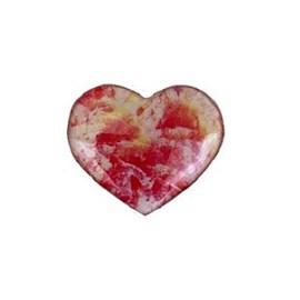 Aplique coração  acrilico multicolor - 4 cm  - c/ 5 unds