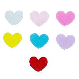 Aplique coração acrilico ref. ap-30 c/ 10 unds
