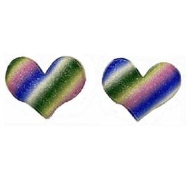 Aplique coração tie dye  5 cm c/ 5 unds