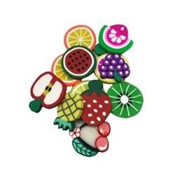Aplique emborrachado frutinhas sortidas - aprox 2,5 cm c/ 10 unds