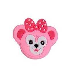 Aplique emborrachado - macaca rosa - aprox. 2.5 cm c/ 10 unds