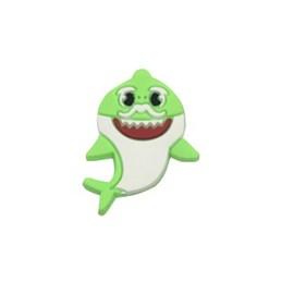 Aplique emborrachado - tubarão verde - aprox. 2 cm c/ 10 unds