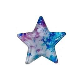 Aplique estrela acrilico multicolor - 4 cm  - c/ 5 unds