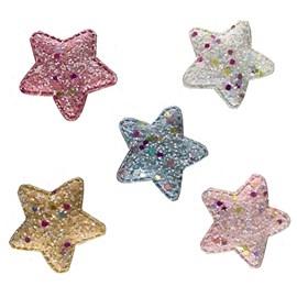Aplique estrela  brilha no escuro  aprox. 5.5 x 3 cm c/ 5 unds