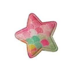 Aplique estrela escama - aprox. 5 cm c/ 5 unds