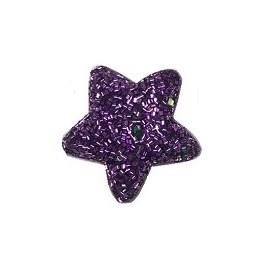 Aplique estrela flocada aprox. 4.5 cm c/ 5 unds