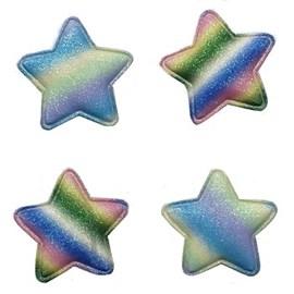 Aplique estrela tie dye  5 cm c/ 5 unds