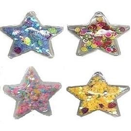 Aplique lantejoula estrela - aprox. 5 cm - pct c/ 5 unds