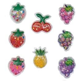 Aplique lantejoula  frutas sortidas  aprox. 3,5 cm c/ 10 unds