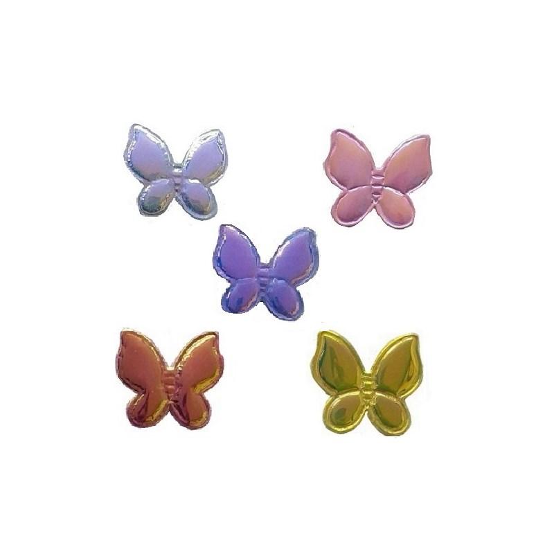 Aplique metal borboleta ref. 150070 aprox. 4 x 3,5 cm c/10 unds
