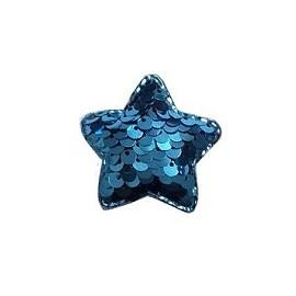 Aplique paetê estrela aprox. 4  x 4 cm c/ 5 unds