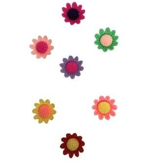 Aplique plastico ref.mon-1 -flor  aprox. 2,2 x 1,7  cm c/ 10 unds
