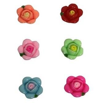 Aplique plastico ref.mon-1 - rosa  aprox. 2,2 x 1,7  cm c/ 10 unds