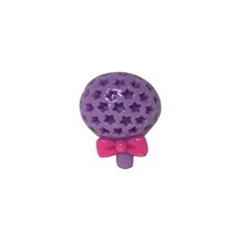Aplique plastico ref.mon-2-pirulito  aprox. 2,8 x 2.5 cm c/ 10 unds