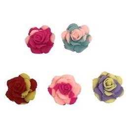 Aplique plastico ref-ros - rosa  aprox. 3 x 3 cm c/ 10 unds