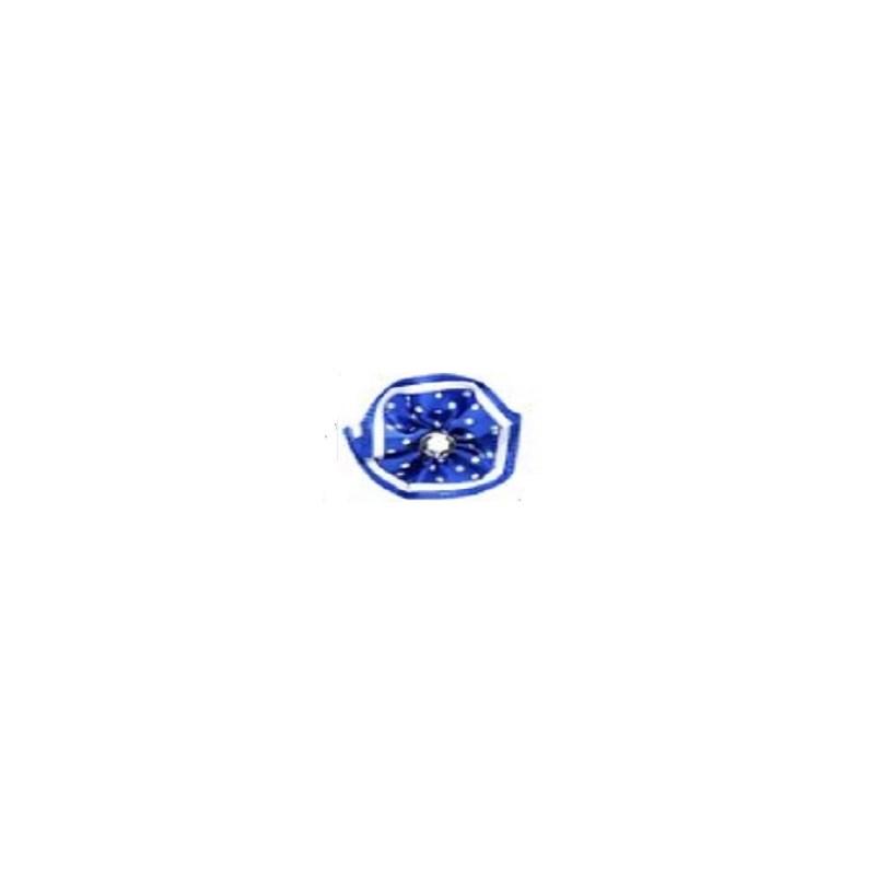 Aplique ref. 36 - flor poliester c/ strass - 3 cm c/ 10 unds