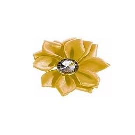 Aplique ref. 43 - flor c/ pedra - 4 cm c/ 10 unds
