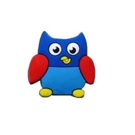 Aplique silicone coruja azul as-71 tam .aprox.:  3,00 x 3,00 cm pct c/ 10 unds