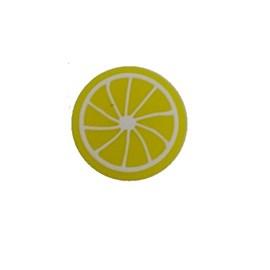 Aplique silicone limão as-111 tam. aprox. 2.50 cm pct c/ 10 unds