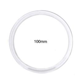 Argola acrilica cristal n.100 diametro 100mm c/ 24 pcs