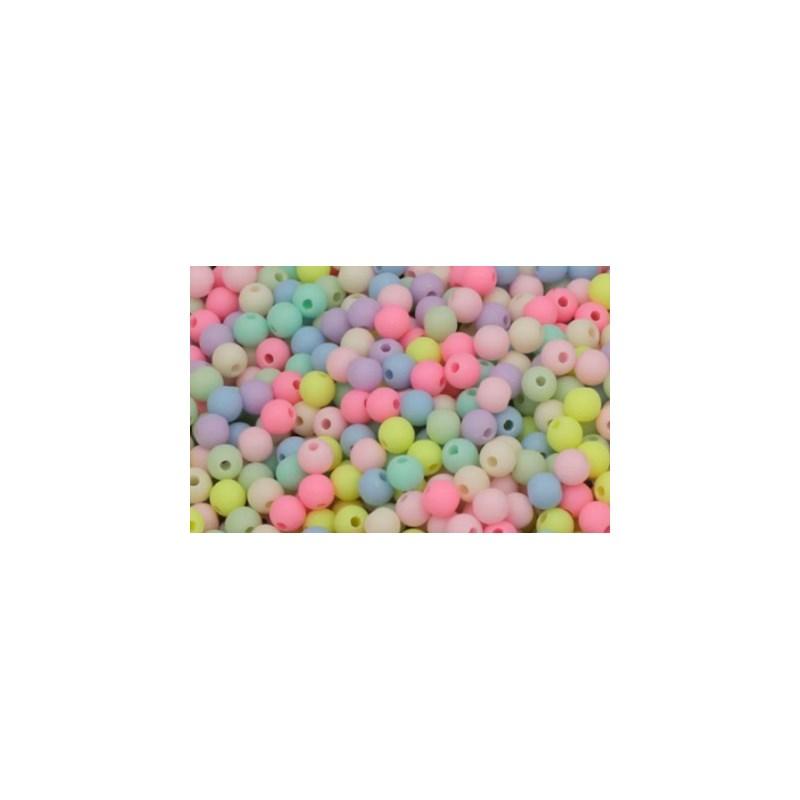 Bola plastica  luli - 6 mm c/ 50 grs