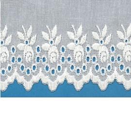 Bordado algodão ref. 106 - 7,70 cm x 14.4 mts