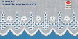 Bordado algodão ref. 51228 - 7,70 cm x 14.4 mts