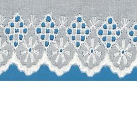 Bordado algodão ref. 7300 - 7,3 cm x 14.4 mts
