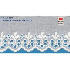 Bordado algodão ref. 811600 - 6.60 cm x 14.4 mts