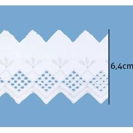 Bordado algoodão luli ref. 107307 - 6.4 cm  c/ 13.7 mts