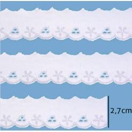 Bordado em algodão luli 111955 larg.: 2.7 cm  c/ 13.7 mts