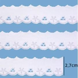 Bordado em algodão luli 111958 larg.: 2.3 cm  c/ 13.7 mts