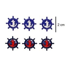 Botão inf. ref. 6036 - timão -  aprox. 2 x 2 cm  c/ 25 unds