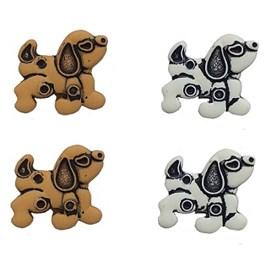 Botão ref. 6098 - cachorrinho  - aprox. 2 cm c/ 25 unds