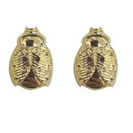 Botão ref. 9353 - joaninha dourada - aprox. 2.5 cm c/ 25 unds